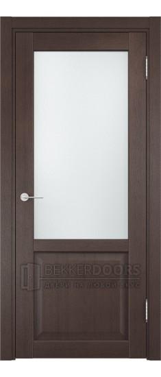 Дверь ПО Рома 24 Венге Стекло Сатинато Люкс