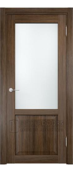 Дверь ПО Рома 24 Венге мелинга Стекло Сатинато Люкс