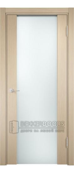 Дверь ПО Сан-Ремо 01 Беленый дуб Стекло Белый Триплекс