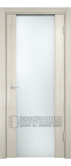 Дверь ПО Сан-Ремо 01 Беленый дуб мелинга Стекло Белый Триплекс