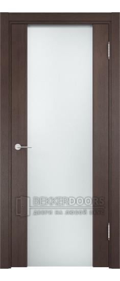 Дверь ПО Сан-Ремо 01 Венге Стекло Белый Триплекс