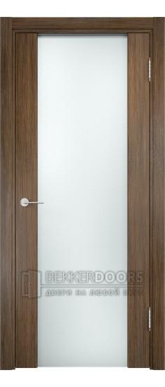 Дверь ПО Сан-Ремо 01 Венге мелинга Стекло Белый Триплекс