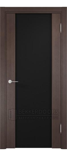 Дверь ПО Сан-Ремо 01 Венге Стекло Черный Триплекс