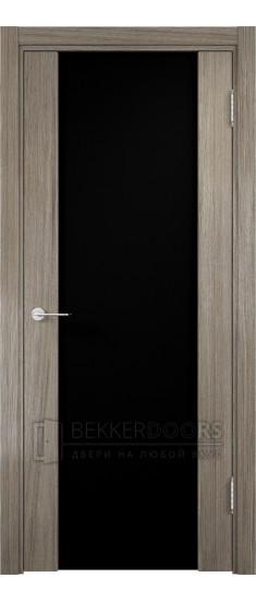 Дверь ПО Сан-Ремо 01 Вишня Малага Стекло Черный Триплекс