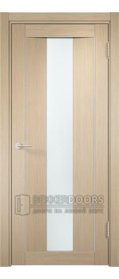 Дверь ПО Сицилия 02 Беленый дуб Стекло Сатинато Люкс