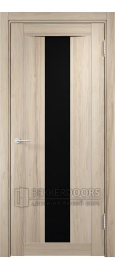 Дверь ПО Сицилия 02 Капучино Стекло Черный Триплекс
