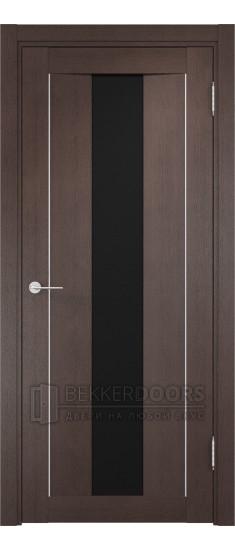 Дверь ПО Сицилия 02 Венге Стекло Черный Триплекс