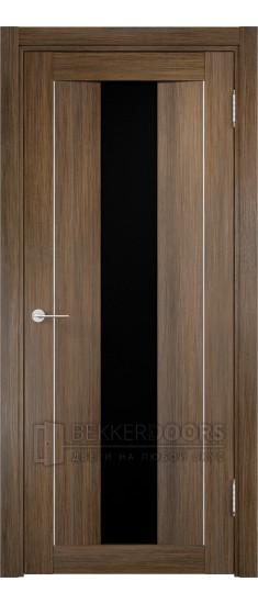 Дверь ПО Сицилия 02 Венге мелинга Стекло Черный Триплекс
