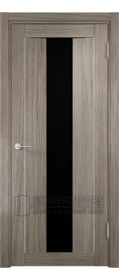 Дверь ПО Сицилия 02 Вишня Малага Стекло Черный Триплекс