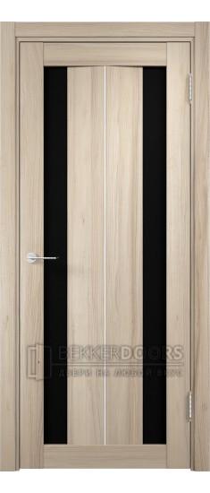 Дверь ПО Сицилия 04 Капучино Стекло Черный Триплекс