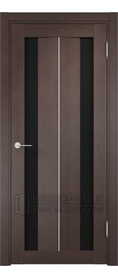 Дверь ПО Сицилия 04 Венге Стекло Черный Триплекс