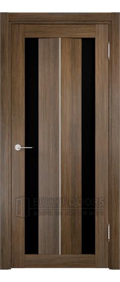 Дверь ПО Сицилия 04 Венге мелинга Стекло Черный Триплекс