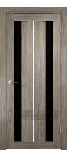 Дверь ПО Сицилия 04 Вишня Малага Стекло Черный Триплекс