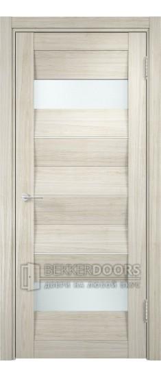 Дверь ПО Сицилия 10 Беленый дуб мелинга Стекло Сатинато Люкс