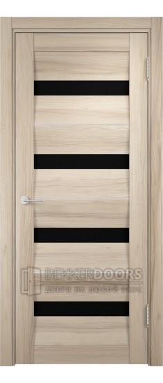 Дверь ПО Сицилия 12 Капучино Стекло Черный Триплекс