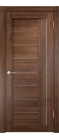 Дверь ПО Сицилия 13 Орех Стекло Сатинато Люкс