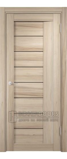 Дверь ПО Сицилия 13 Капучино Стекло Черный Триплекс