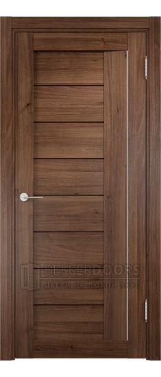 Дверь ПО Сицилия 13 Орех Стекло Черный Триплекс