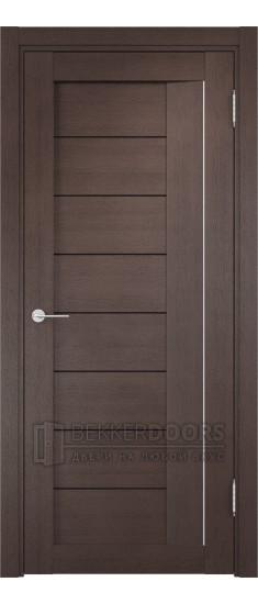 Дверь ПО Сицилия 13 Венге Стекло Черный Триплекс