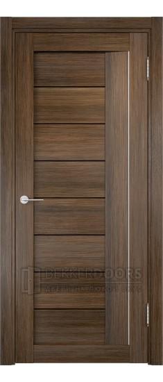 Дверь ПО Сицилия 13 Венге мелинга Стекло Черный Триплекс