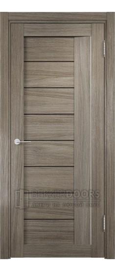 Дверь ПО Сицилия 13 Вишня Малага Стекло Черный Триплекс