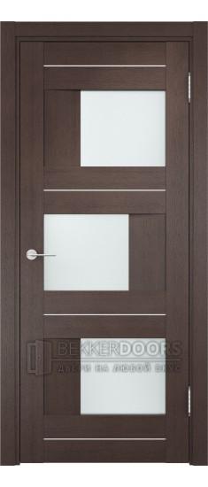 Дверь ПО Сицилия 14 Венге Стекло Сатинато Люкс