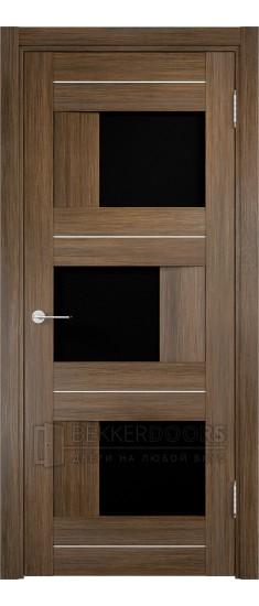 Дверь ПО Сицилия 14 Венге мелинга Стекло Черный Триплекс
