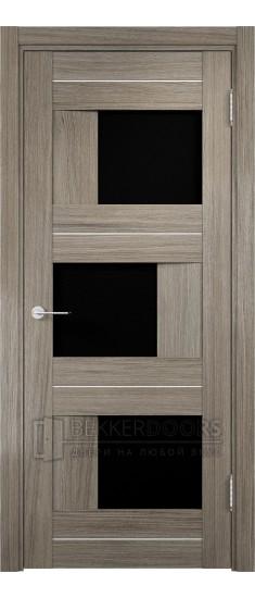 Дверь ПО Сицилия 14 Вишня Малага Стекло Черный Триплекс