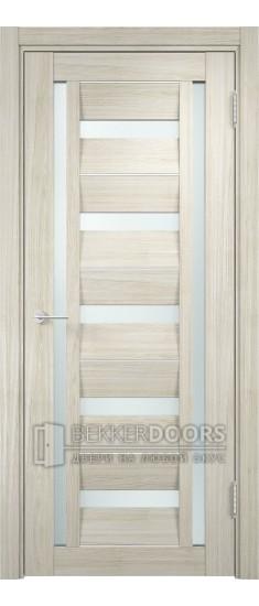 Дверь ПО Сицилия 16 Беленый дуб мелинга Стекло Сатинато Люкс