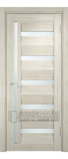 Дверь ПО Сицилия 18 Беленый дуб мелинга Стекло Сатинато Люкс