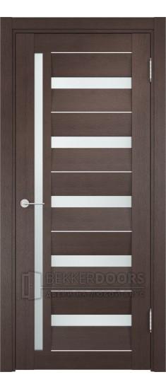 Дверь ПО Сицилия 18 Венге Стекло Сатинато Люкс