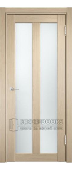 Дверь ПО Флоренция 22  Беленый дуб Стекло Сатинато Люкс