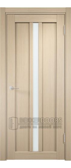 Дверь ПО Флоренция 27  Беленый дуб Стекло Сатинато Люкс