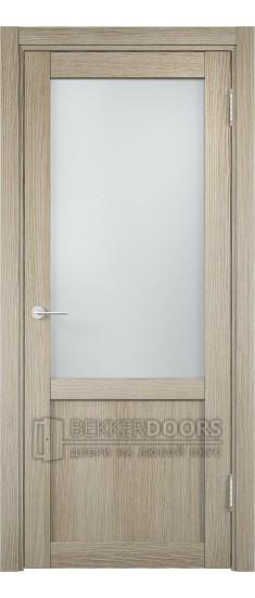 Дверь ПО Баден 04 Дуб дымчатый Стекло Сатинато Люкс