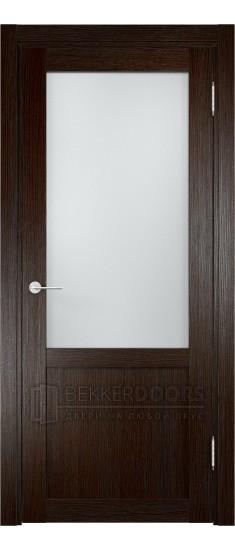 Дверь ПО Баден 04 Дуб темный Стекло Сатинато Люкс