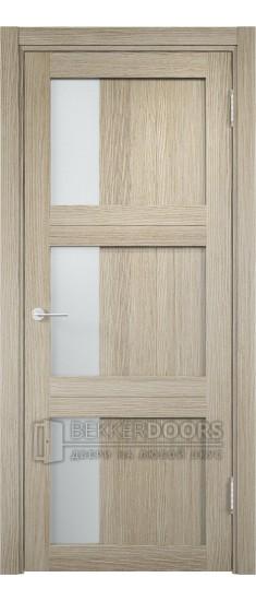 Дверь ПО Баден 06 Дуб дымчатый Стекло Сатинато Люкс