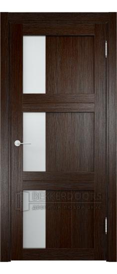 Дверь ПО Баден 06 Дуб темный Стекло Сатинато Люкс