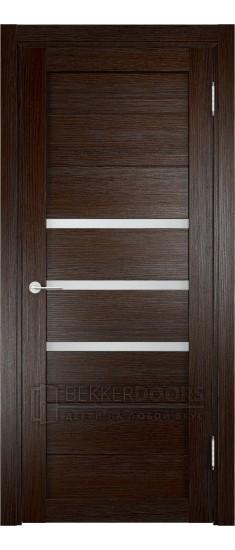 Дверь ПО Мюнхен 01 Дуб темный Стекло Сатинато Люкс