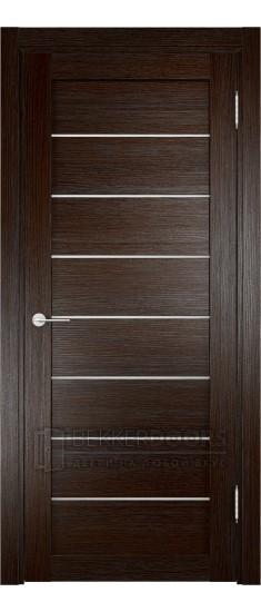 Дверь ПО Мюнхен 04 Дуб темный Стекло Сатинато Люкс