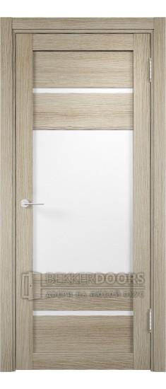 Дверь ПО Мюнхен 09 Дуб дымчатый Стекло Сатинато Люкс