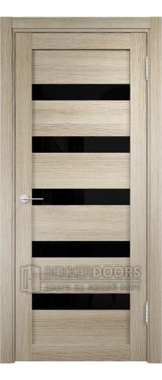 Дверь ПО Мюнхен 03 Дуб дымчатый Стекло Лакобель Черное