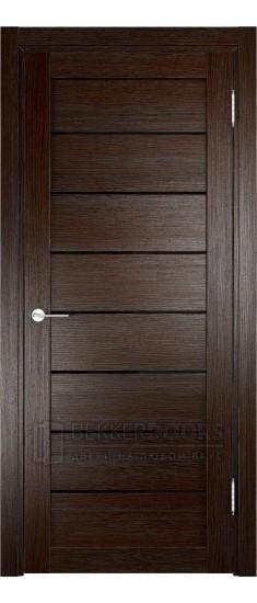 Дверь ПО Мюнхен 04 Дуб темный Стекло Лакобель Черное