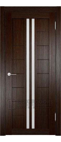Дверь ПО Берлин 08 Дуб темный Стекло Сатинато Люкс