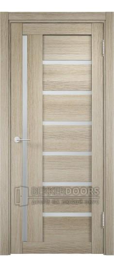 Дверь ПО Берлин 02 Дуб дымчатый Стекло Сатинато Люкс