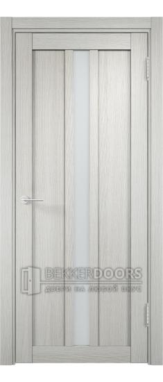 Дверь ПО Берлин 04 Слоновая кость Стекло Сатинато Люкс