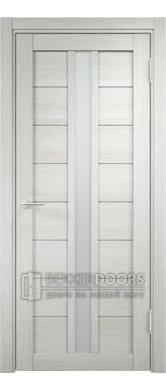 Дверь ПО Берлин 10 Слоновая кость Стекло Сатинато Люкс