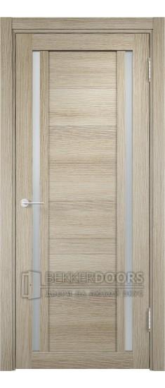 Дверь ПО Берлин 06 Дуб дымчатый Стекло Сатинато Люкс