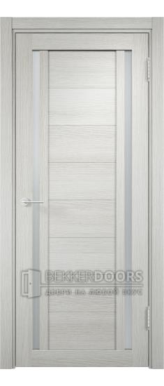 Дверь ПО Берлин 06 Слоновая кость Стекло Сатинато Люкс