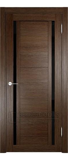 Дверь ПО Берлин 06 Дуб табак Стекло Лакобель Черное