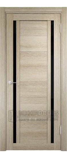 Дверь ПО Берлин 06 Дуб дымчатый Стекло Лакобель Черное